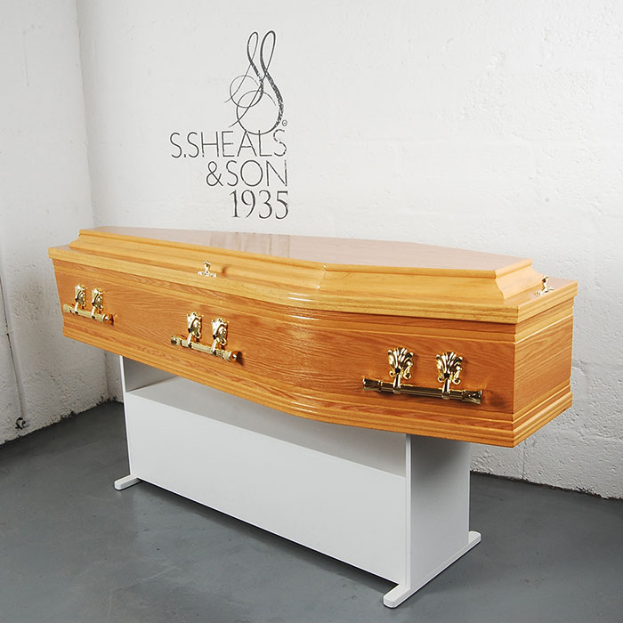 Profile Side Light Oak Coffin